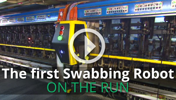 Swabbing Robot on the run